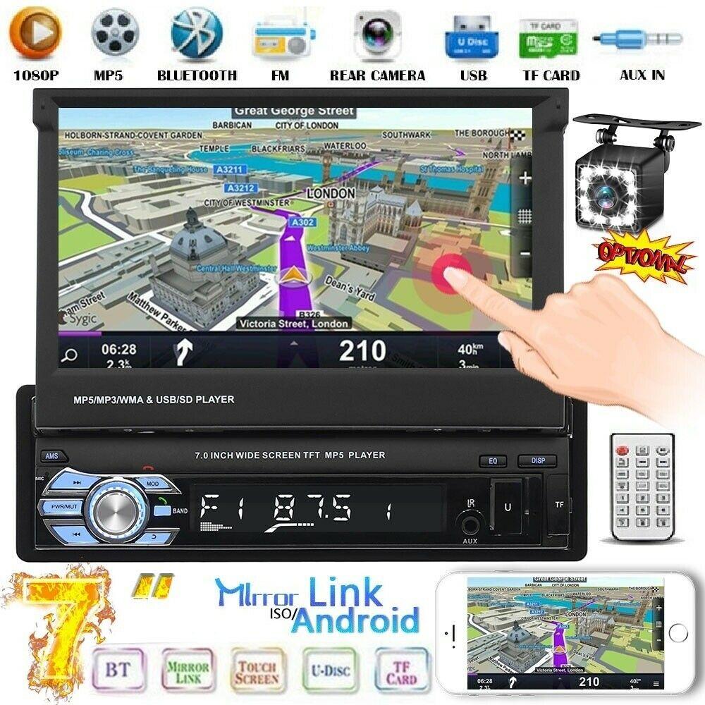 "7"" 1 DIN AUTORADIO GPS BLUETOOTH USB TF FM MP5 player Touchscreen Phone link"