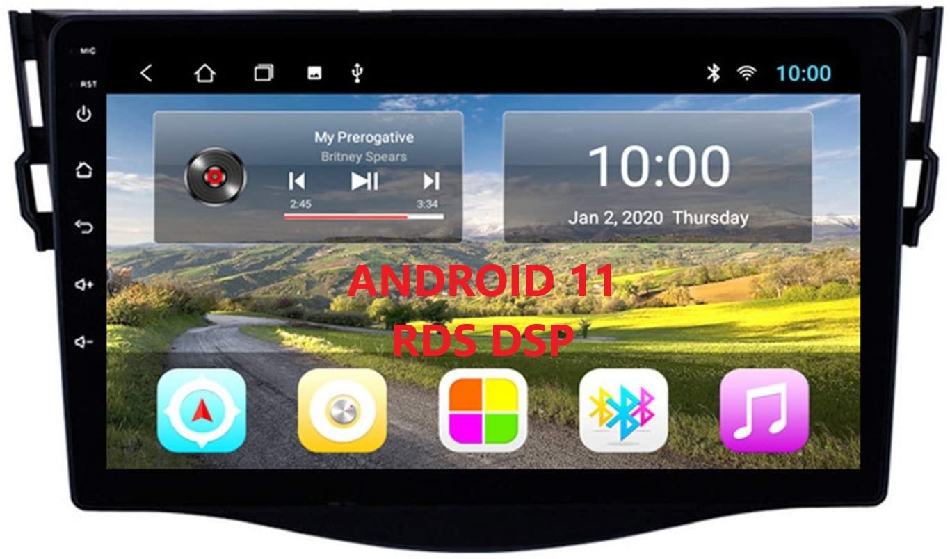 "Toyota RAV4 Android 11  Autoradio 9"" Touchscreen BT GPS Navi Carplay RDS DSP 64GB ROM  4GB RAM 4G Internet"