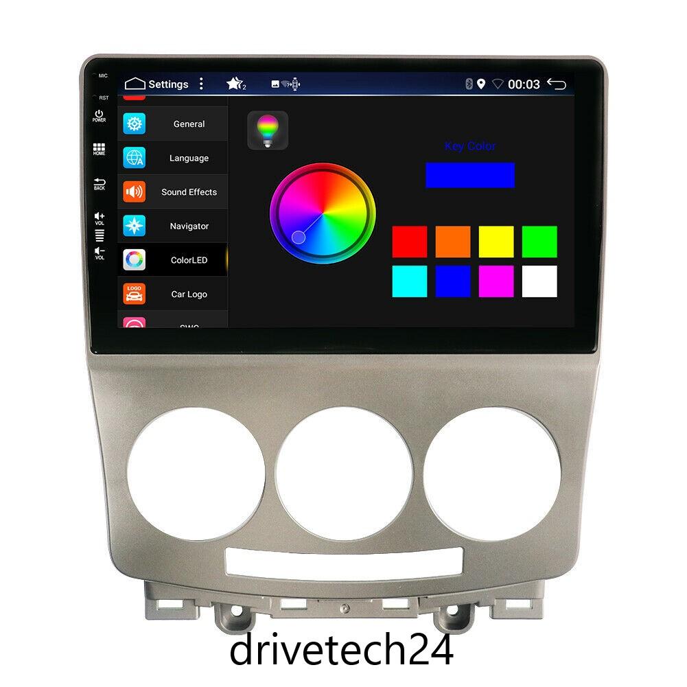 9 zoll  Android 10 Autoradio Bluetooth SD GPS Navi Wifi MP3 für Mazda 5 2005-2013