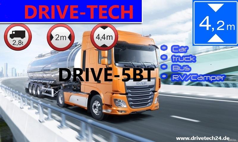 5 Zoll Navigationsgerät  DRIVE-5BT Für LKW, PKW, BUS, WOMO. lebenslange Kartenupdate