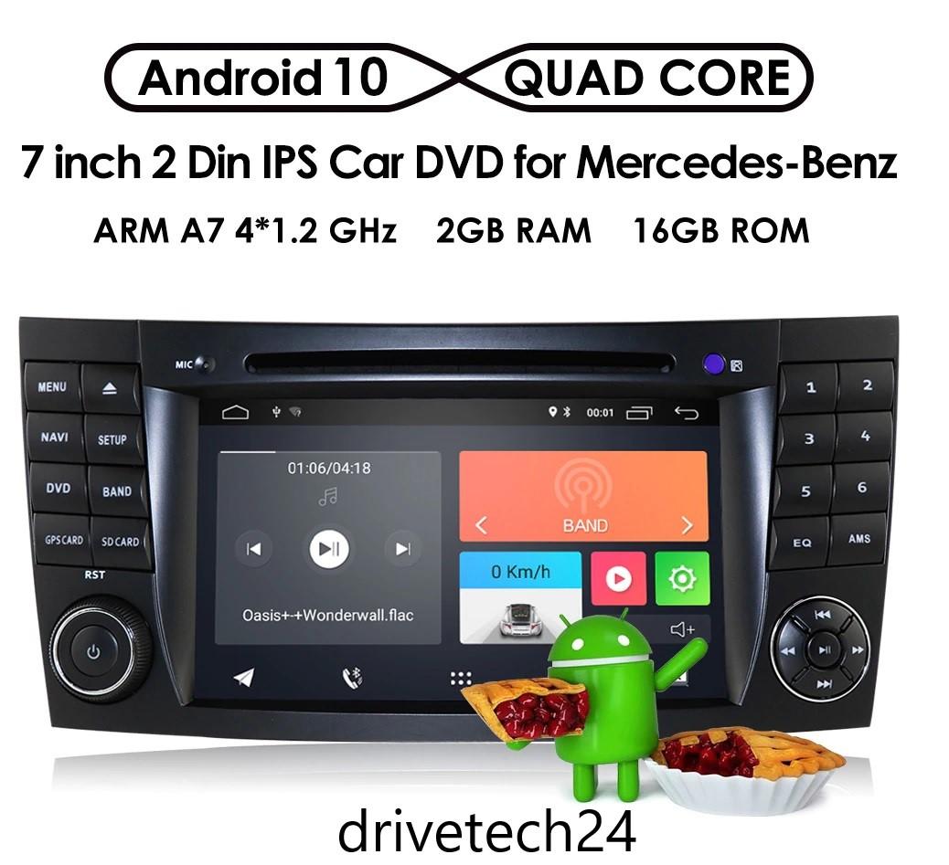 """7"""" Autoradio DVD USB  Player und GPS NAVIGATION für Mercedes Benz W211 CLS W219 W463 Android 10"""