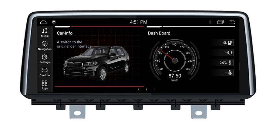 10.2 Zoll  Android 10 GPS Navigation Carplay für BMW X5 X6 E70 E71 CIC USB WiFi Radio 4GB RAM 64GB ROM