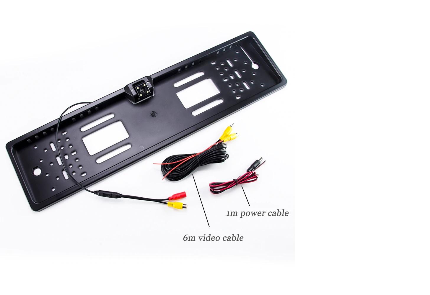 170° IR 8 LED Rückfahrkamera mit Nummernschild Einparkhilfe  Nachtsicht