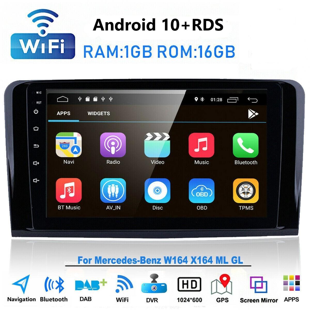 """9"""" Autoradio GPS NAVIGATION Wifi für Mercedes Benz GL und ML. W164 GL320 ML350 X164 Android 10.0  system RDS"""