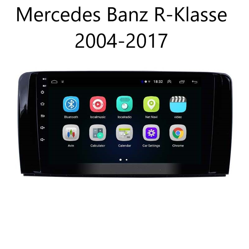 9 zoll Android 10 Autoradio GPS Navi Wifi für Mercedes Benz R-Klasse 2004-2017