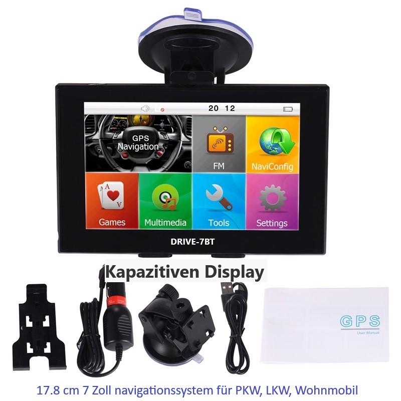 7  Zoll Navigationssystem GPS Navi  Für LKW, PKW,  WOMO. INKL Rückfahrkamera