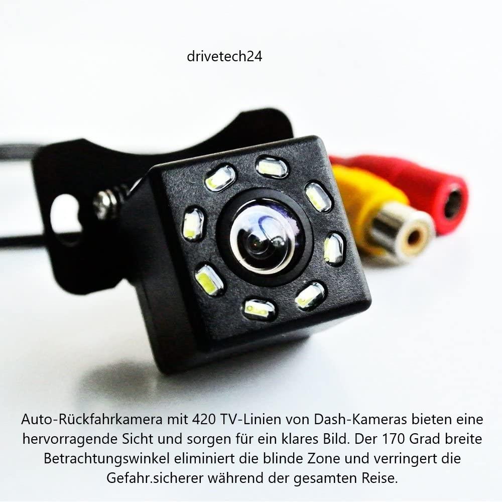 70 ° Winkel Auto Rückfahrkamera  Nachtsicht 8 LED wasserdichte