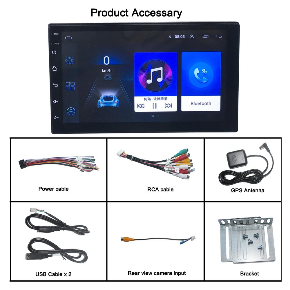 9 Zoll Android 10 Universal Autoradio 2 Din Stereo GPS 3D Navigation Bluetooth
