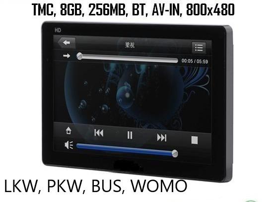 7 Zoll Navigationssystem GPS Navi PRO-DRIVE mit TMC Verkehrsfunkempfänger LKW, PKW, WOMO BT  AV-IN