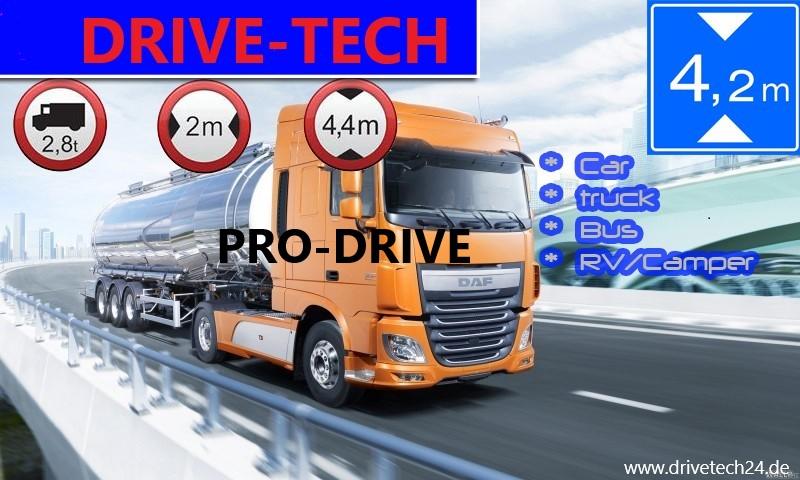 7 Zoll Navigationsgerät  PRO-DRIVE Für LKW, PKW, BUS, WOMO. lebenslange Kartenupdate