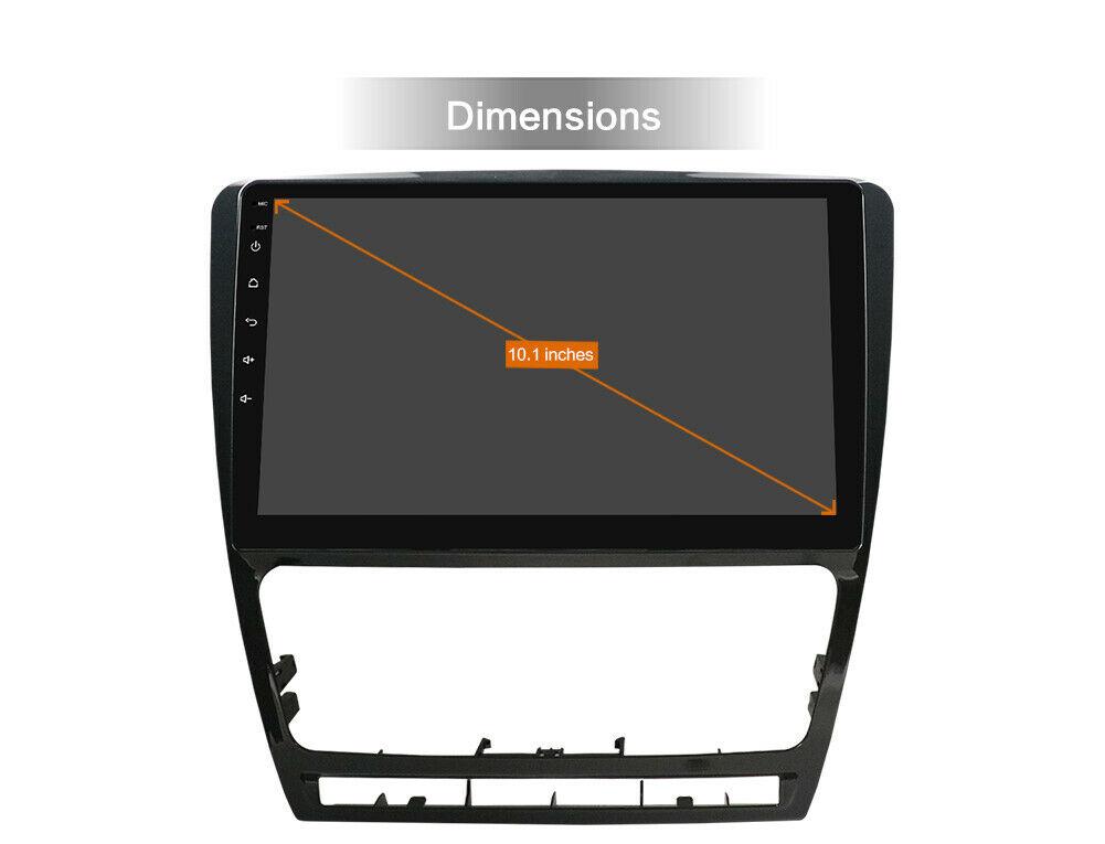 "10"" Android 10 Autoradio GPS Navi Wifi BT MP5 USB für Skoda Octavia 2007-2014"