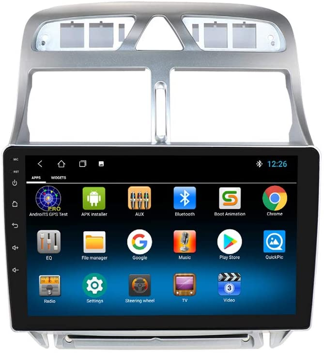 "9"" Android 10 Autoradio Bluetooth SD GPS Navi Wifi MP3 für Peugeot 307 2002-2013"