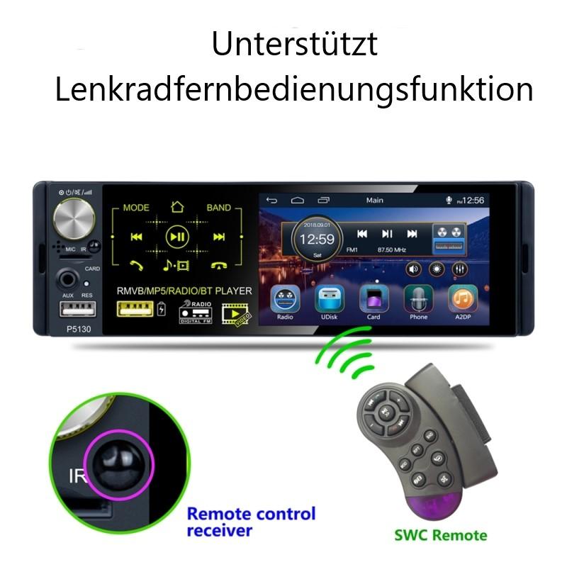 4.1 Zoll Autoradio Empfänger MP5, Video Player FM & AM Bluetooth USB SD. 1 DIN