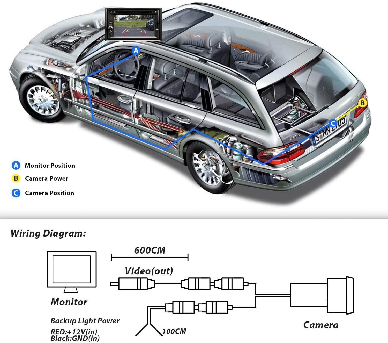 170 ° Winkel Auto Rückfahrkamera Rückfahrkamera Nachtsicht 12 LED wasserdichte
