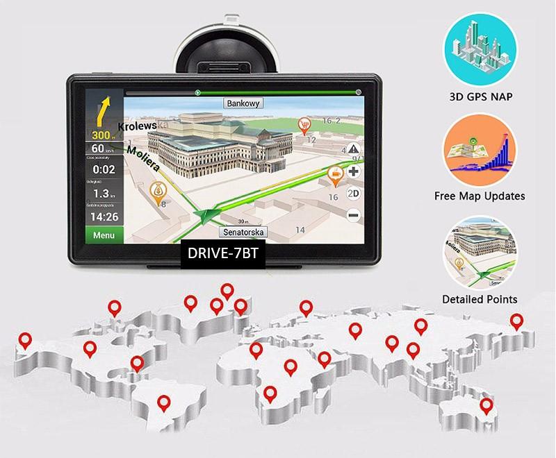 7  Zoll Navigationssystem GPS Navi  Für LKW, PKW,  WOMO. INKL Drahtlose Rückfahrkamera