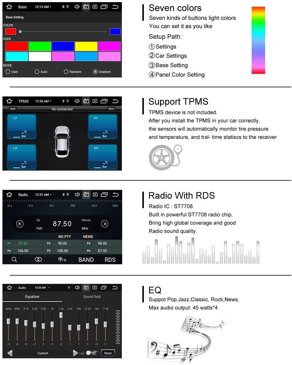 "7"" Android 10 DVD USB Autoradio GPS WIFI Für VW Touareg Transporter T5 Multivan"
