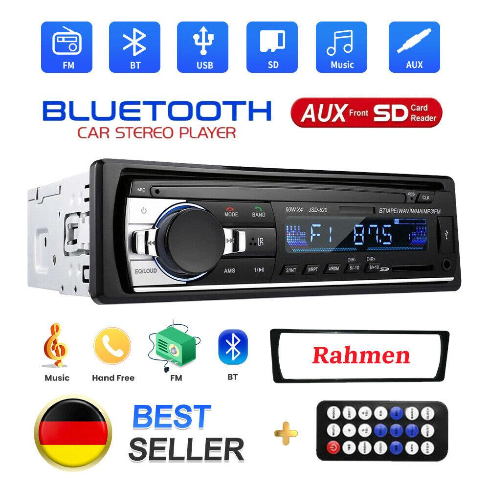Autoradios MP3 player  Bluetooth USB SD  Auto Stereo Audio In-Dash FM Radio MMC WMA 12V