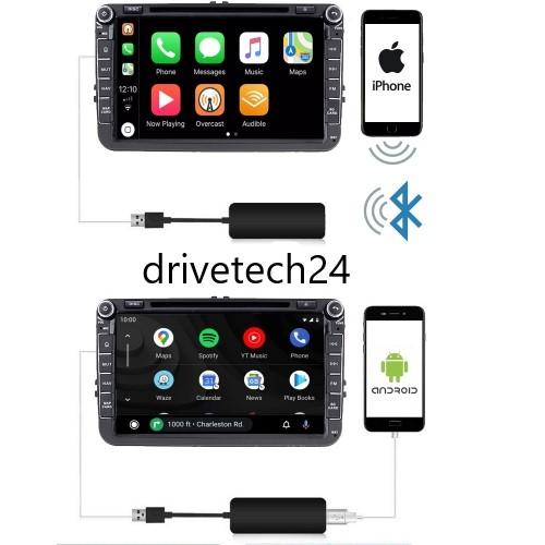 Wireless USB Android Auto & USB Apple Carplay Dongle USB Adaptor + Android