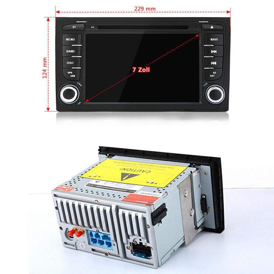 "7"" Autoradio Für AUDI A4 S4 RS4 B6 B7 Android 10.0 GPS NAVI DVD WIFI BT CANBUS"