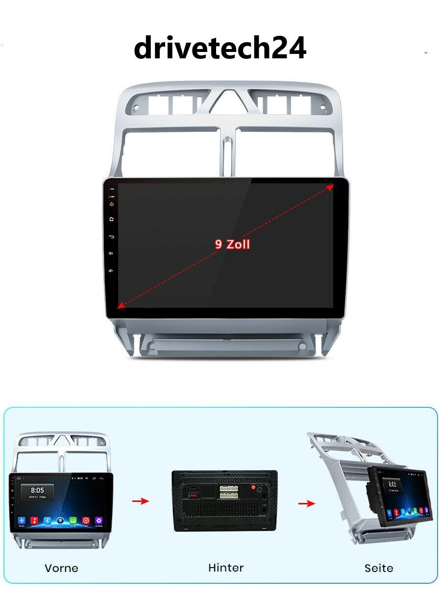 "Peugeot 307 Android 10 Autoradio 9"" Touchscreen BT GPS Navi Carplay RDS 64GB 4GB"