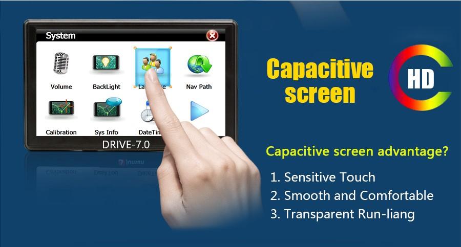 7 Zoll GPS Navigationssysteme Navi Drive-7.0 für LKW, PKW, WOHNMOBIL BUS. 256MB