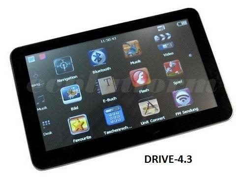 4.3 Zoll GPS Navigationssysteme Navi Drive-4.3  für LKW, PKW, WOHNMOBIL BUS. 256MB