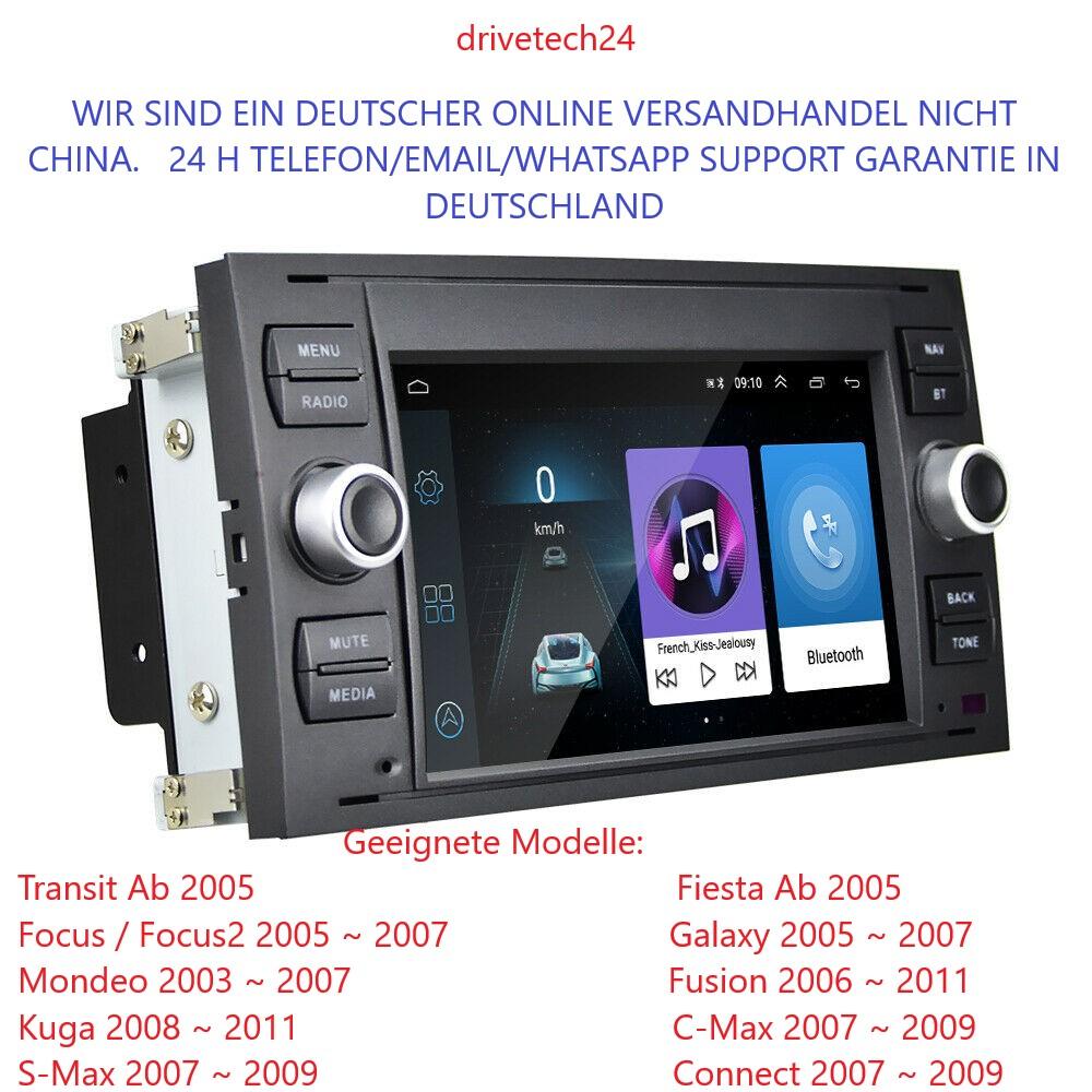 7 zoll Autoradio GPS Navi Android  für Ford Focus Transit C/S-MAX Fusion Kuga Fiesta Galaxy Connect Mondeo