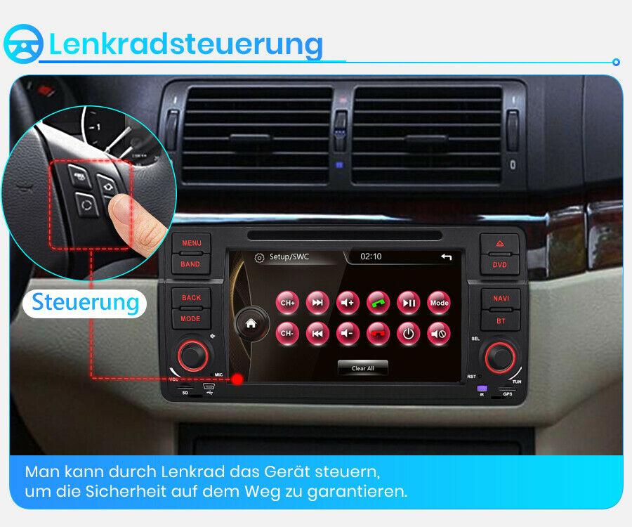 """7"""" Autoradio GPS NAVIGATION Für BMW E46 3er 318 320 BT DVD USB Stereo VMCD RDS"""