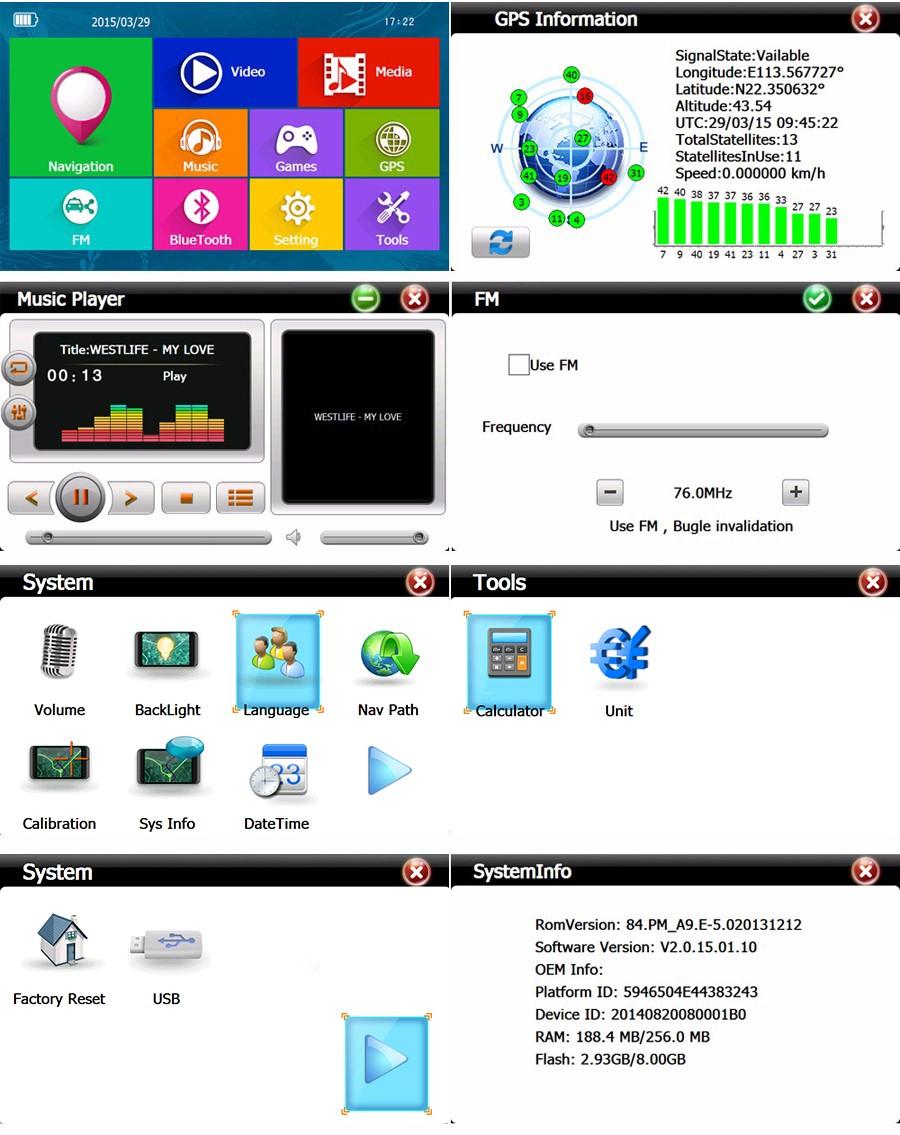 7 Zoll Navigationsgerät  DRIVE-7BT Für LKW, PKW, BUS, WOMO. lebenslange Kartenupdate
