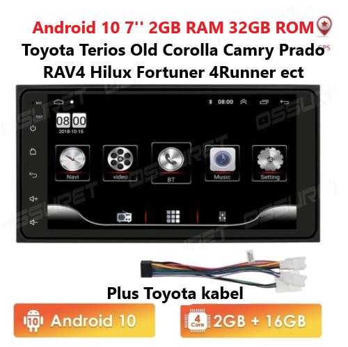 "7"" Autoradio GPS NAVIGATION Android 10  für TOYOTA COROLLA EX RAV4 VIOS VITZ HILUX"