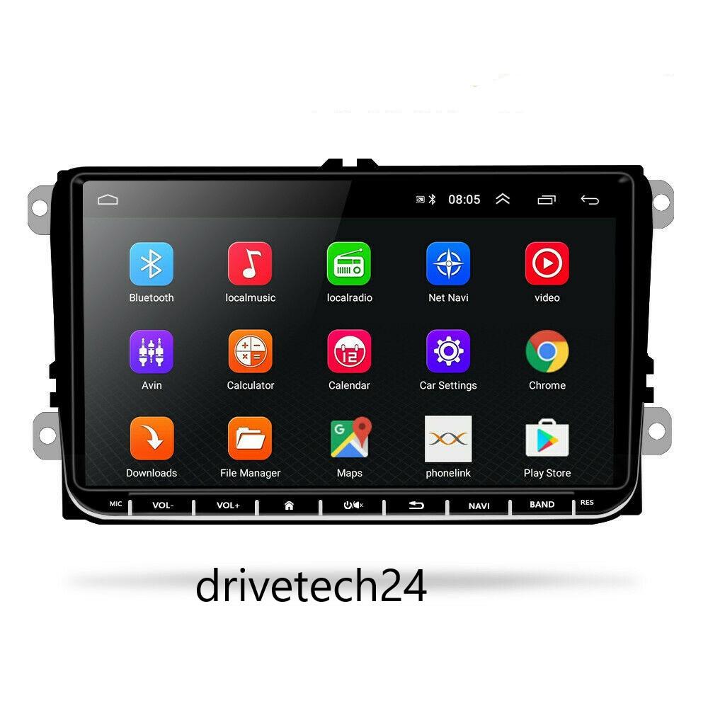 9 zoll Android Autoradio GPS WIFI AUX USB  für VW Golf 5/6 V VI, Passat B6, Tiguan, Polo, Jetta, Touran, Candy, Shran, EOS, Skoda Fabia, Octavia Yeti, Seat Leon.