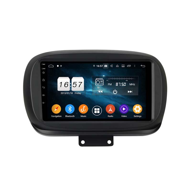 9 zoll  Android 10 Autoradio GPS Navi für FIAT 500X 2014-2019 USB  WIFI FM USB