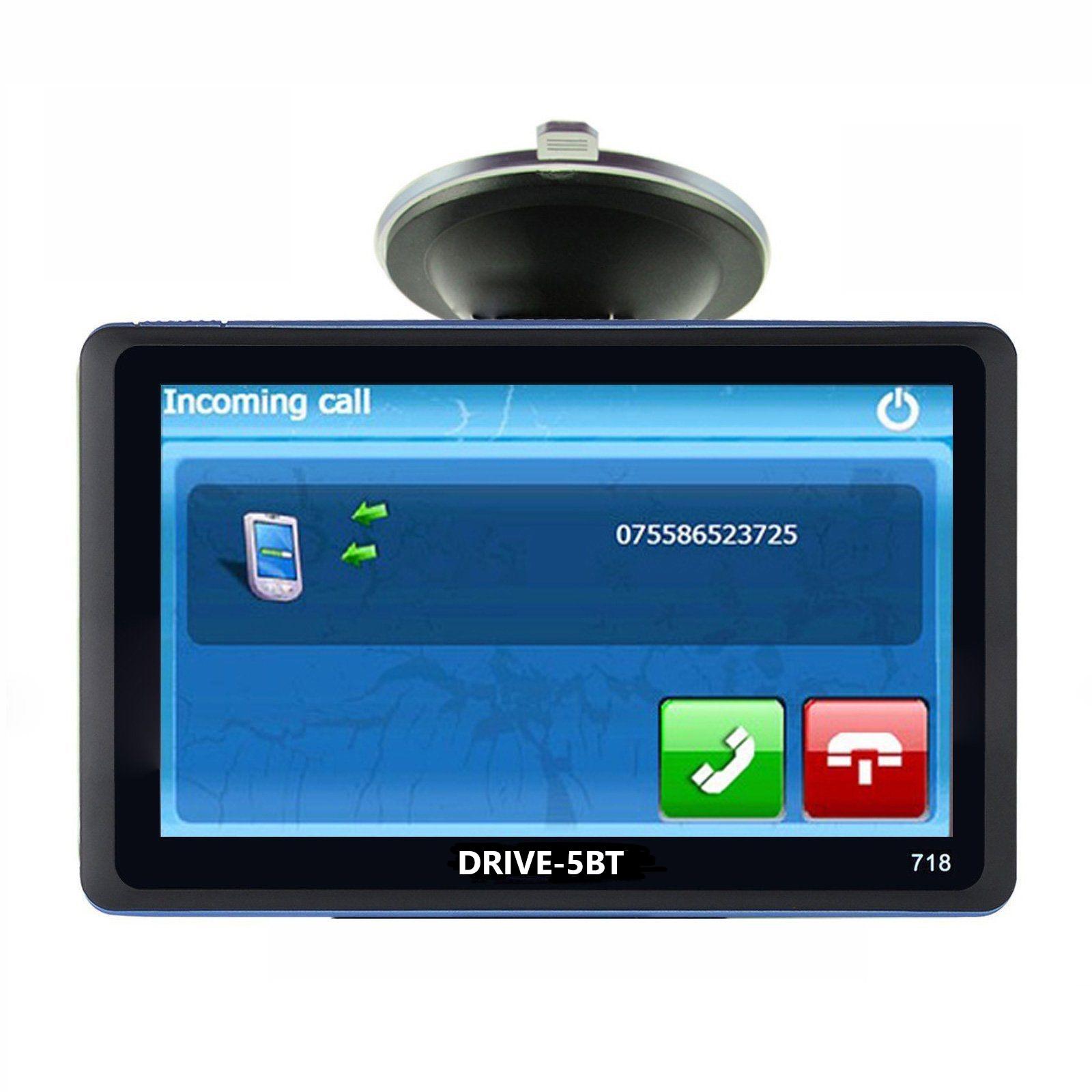 5  Zoll GPS Navigationssystem DRIVE-5BT  Für LKW, PKW,  WOMO. INKL Rückfahrkamera